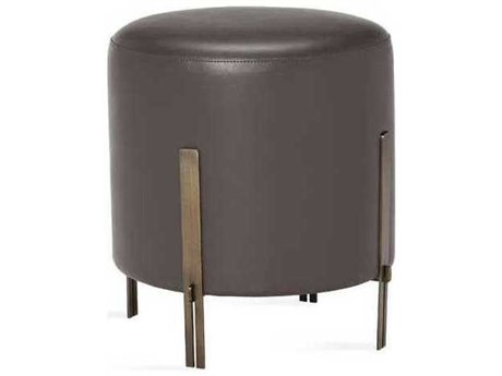 Interlude Home Antique Bronze/ Cityscape Grey Accent Stool IL175165