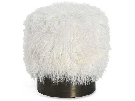Interlude Home Ivory/ Antique Bronze Accent Stool IL175169
