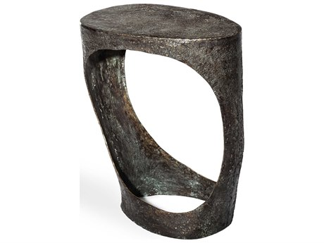 Interlude Home Ansel Verdigris 18'' Wide Oval End Table