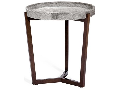 Interlude Home Ansley Natural Grey / Walnut 22'' Wide Round End Table