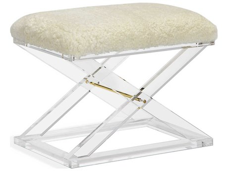 Interlude Home Asher Shearling Stool IL175137