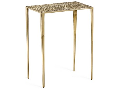 Interlude Home Axel Shiny Brass 17'' Wide Rectangular End Table