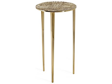 Interlude Home Axel Shiny Brass 12'' Wide Round End Table