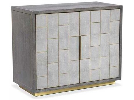 Interlude Home Light Grey/ Grey Wash/ Antique Brass Bar Cabinet IL188105