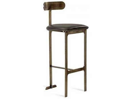 Interlude Home Cityscape Grey/ Antique Bronze Side Bar Height Stool