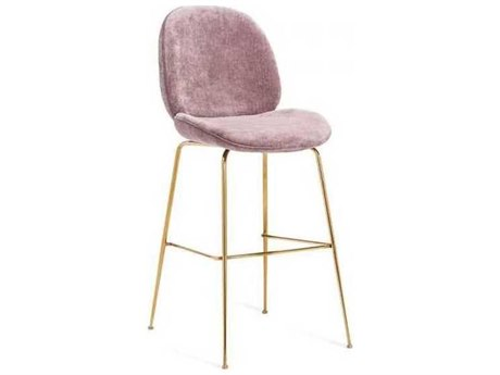 Interlude Home Violet - Rose/ Gold Side Bar Height Stool IL155134