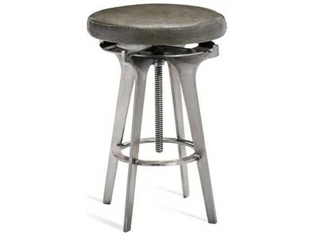 Interlude Home Antique Silver/ Grey Side Adjustable Bar Height Stool IL175126