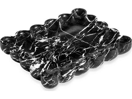 Interlude Home Bliss Black Scalloped Tray IL989008