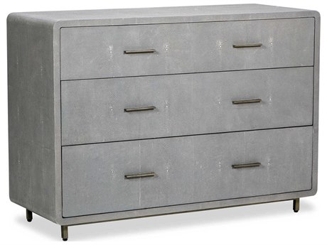 Interlude Home Calypso Grey 46'' x 18'' Three Drawer Dresser Chest IL195055