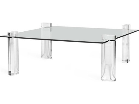Interlude Home Channing Clear 48'' Wide Square Coffee Table