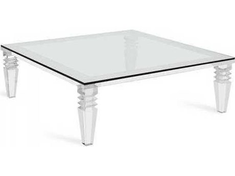 Interlude Home Clear/ Clear Glass 52'' Wide Square Coffee Table
