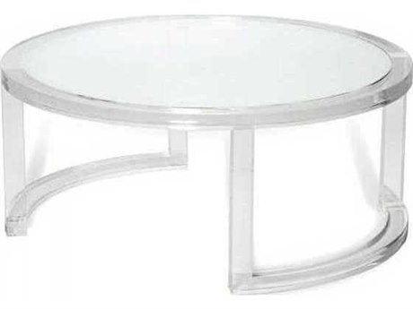 Interlude Home Clear/ Clear Glass 40'' Wide Round Coffee Table