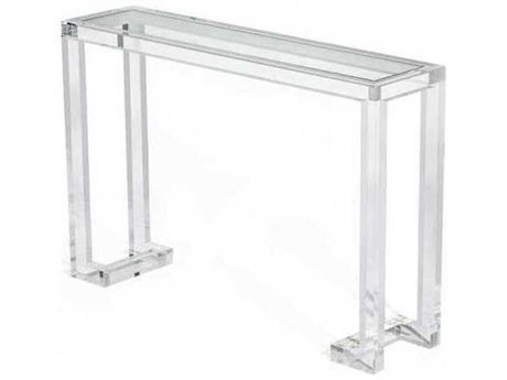 Interlude Home Clear/ Clear Glass 48'' Wide Rectangular Console Table IL135047