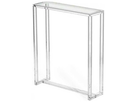 Interlude Home Clear/ Clear Glass 30'' Wide Rectangular Console Table IL135070