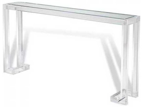 Interlude Home Clear/ Clear Glass 60'' Wide Rectangular Console Table IL138019