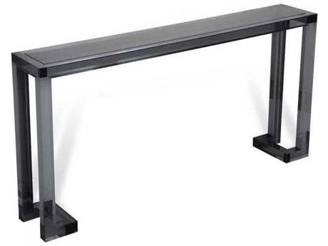 Interlude Home Smoke/ Smoke Glass 60'' Wide Rectangular Console Table IL138027