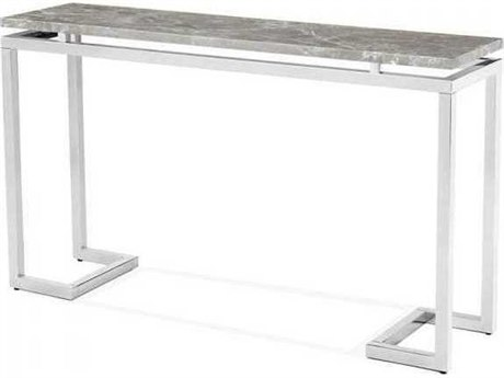 Interlude Home Polished Nickel/ Italian Grey 52'' Wide Rectangular Console Table IL138078