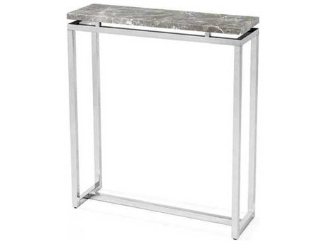 Interlude Home Polished Nickel/ Italian Grey 30'' Wide Rectangular Console Table IL138081