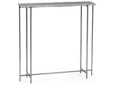 Interlude Home Grey Marble /Antique Nickel 32'' Wide Rectangular Console Table IL138087