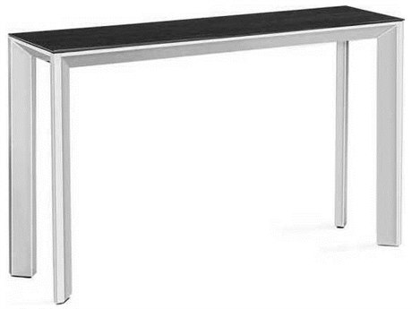 Interlude Home Polished Nickel/ Smoked Grey Oak 52 Wide Rectangular Console Table IL139007