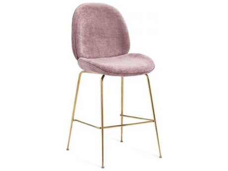 Interlude Home Violet - Rose/ Gold Side Counter Height Stool IL155135