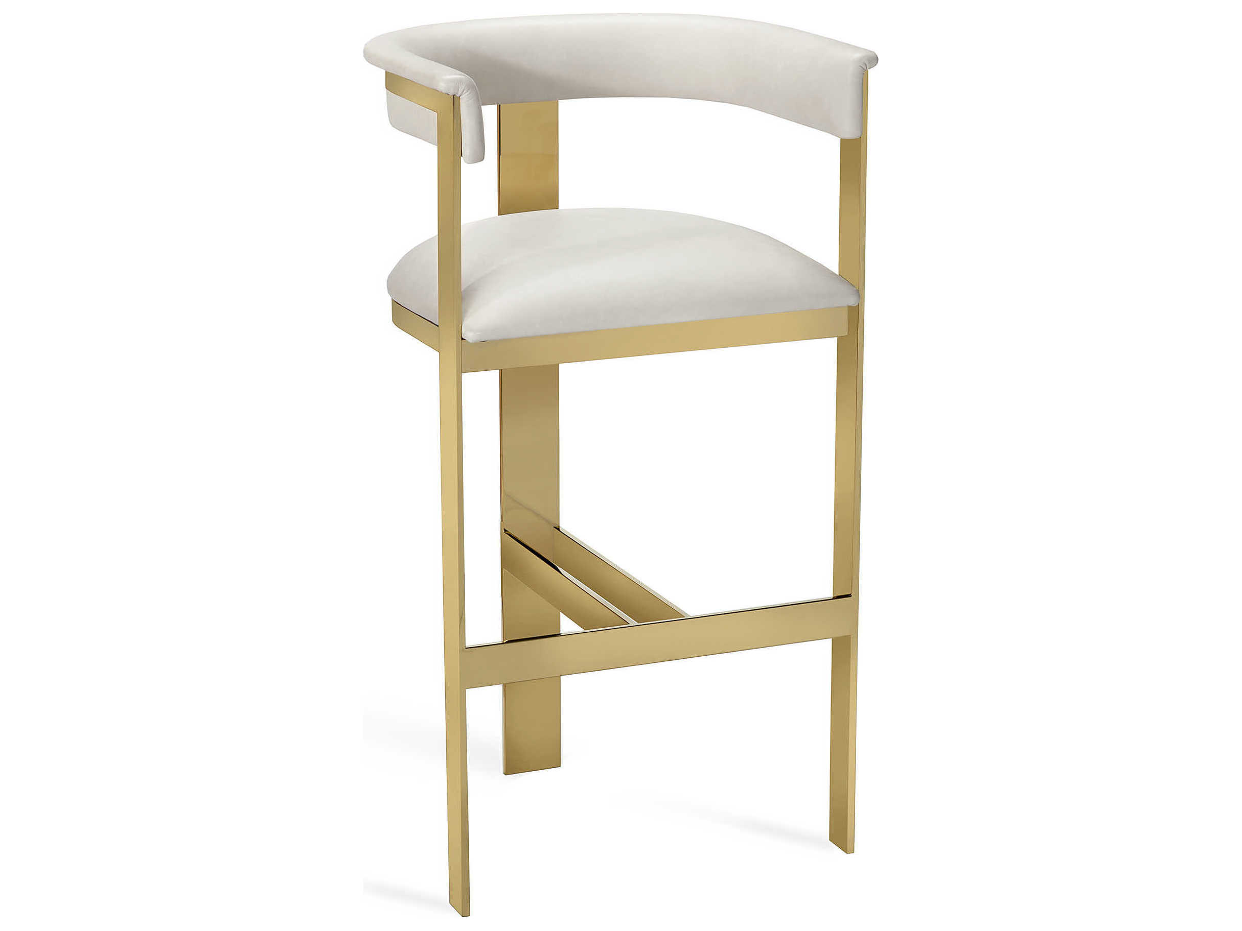 Admirable Interlude Home Darcy Cream Leather Bar Stool Pdpeps Interior Chair Design Pdpepsorg
