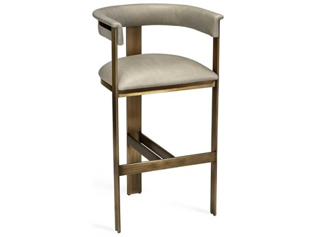 Interlude Home Darcy Taupe Leather Bar Stool IL148103