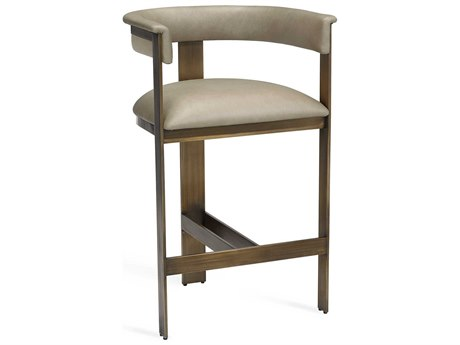 Interlude Home Darcy Taupe Leather Counter Stool IL145199