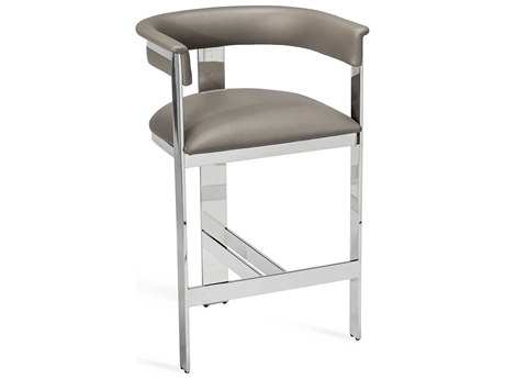 Interlude Home Darcy Grey/ Nickel Counter Stool IL148105