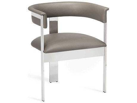 Interlude Home Darcy Grey/ Nickel Dining Arm Chair IL148104