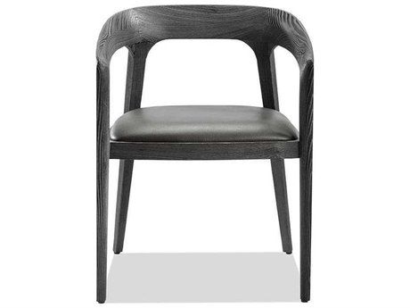 Interlude Home Charcoal Ceruse/ Slate Grey Arm Dining Chair