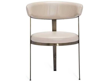 Interlude Home Cream Latte/ Antique Bronze Side Dining Chair