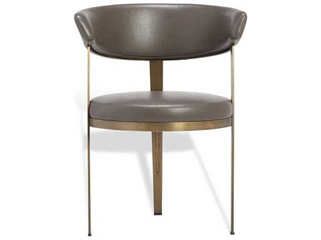 Interlude Home Cityscape Grey/ Antique Bronze Side Dining Chair