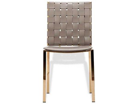 Interlude Home Burnt Taupe/ Gold Side Dining Chair IL148029