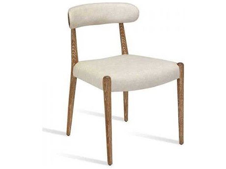Interlude Home Whitewash Oak/ Distressed Cream Side Dining Chair