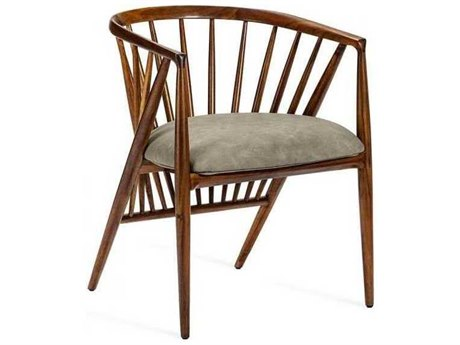 Interlude Home Light Walnut/ Distressed Taupe Arm Dining Chair