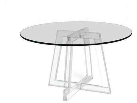 Interlude Home Clear 54'' Wide Round Dining Table IL168097