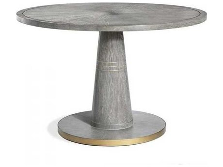 Interlude Home Grey Wash/ Antique Brass 48'' Wide Round Dining Table IL168101
