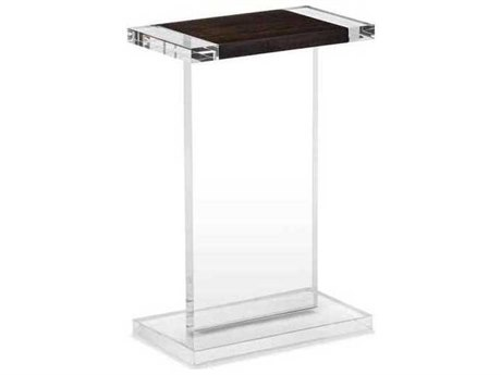 Interlude Home Clear/ Smoked Figured Eucalyptus 14'' Wide Rectangular End Table IL125145