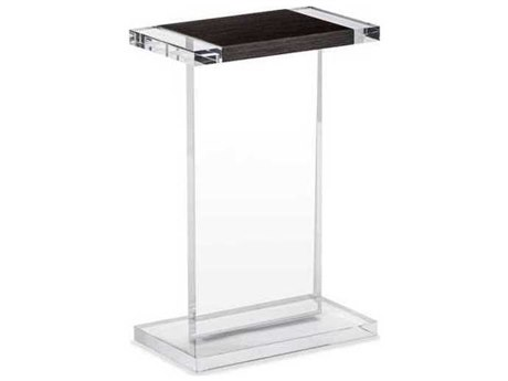 Interlude Home Clear/ Smoked Grey Oak 14'' Wide Rectangular End Table IL125146