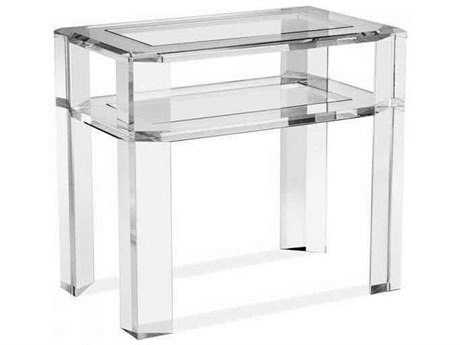 Interlude Home Clear/ Clear Glass 30'' Wide Rectangular End Table IL125147