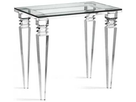 Interlude Home Clear/ Clear Glass 30'' Wide Rectangular End Table IL125148