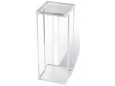 Interlude Home Clear/ Clear Glass 9'' Wide Square End Table IL158084