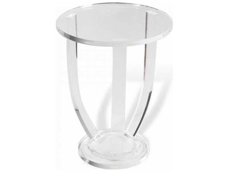 Interlude Home Clear 16'' Wide Round End Table IL158088