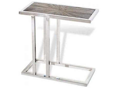 Interlude Home Natural/ Nickel 24'' Wide Rectangular End Table IL159000