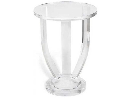 Interlude Home Clear 14'' Wide Round End Table IL159010