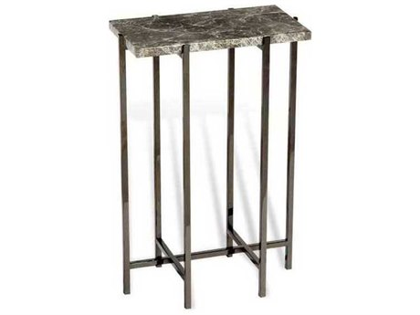 Interlude Home Grey/ Gunmetal 14'' Wide Rectangular End Table IL165037