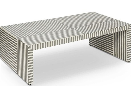 Interlude Home Felicity Natural / Grey 49'' x 24'' Rectangular Cocktail Table IL115114