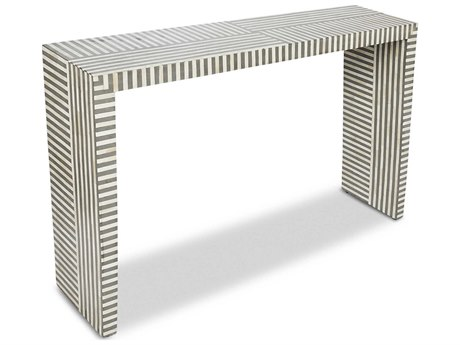 Interlude Home Felicity Natural / Grey 49'' x 12'' Rectangular Console Table IL139016