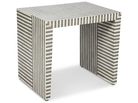 Interlude Home Felicity Natural/ Grey 25'' x 18'' Rectangular Side Table IL125155